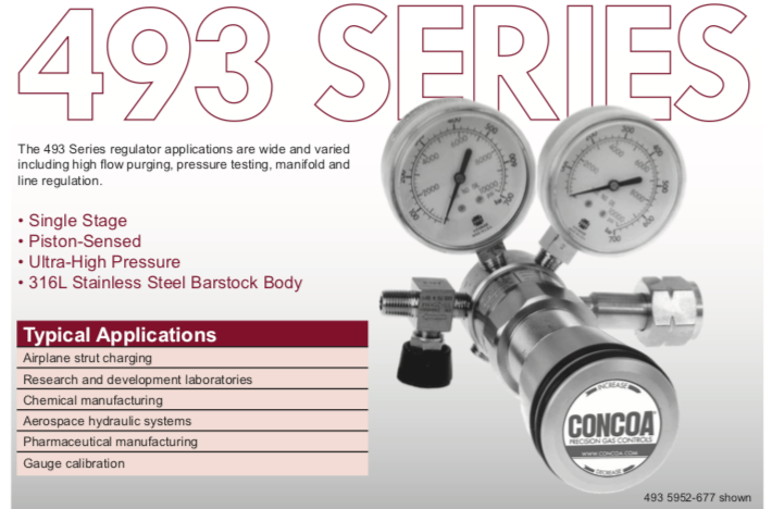 493 Series Concoa Regulator