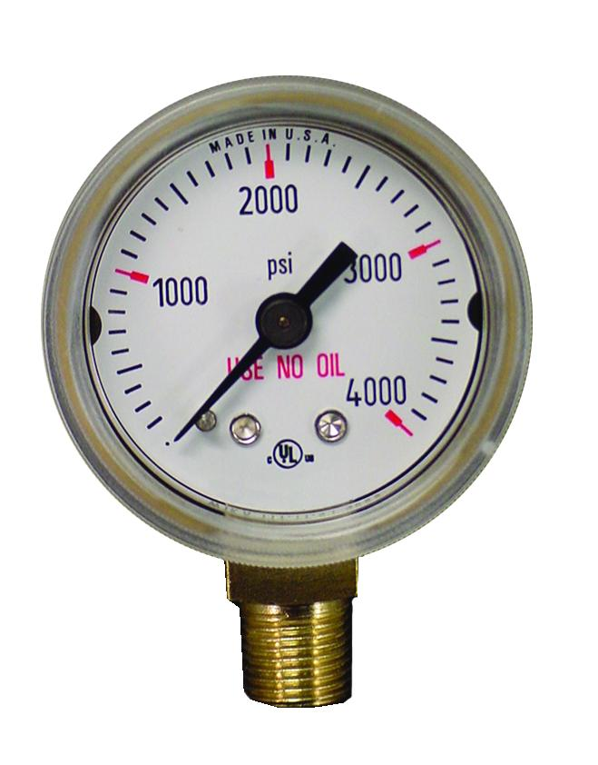 315000 Weldmark Gauge 1-1/2in x 4000 LB Brass
