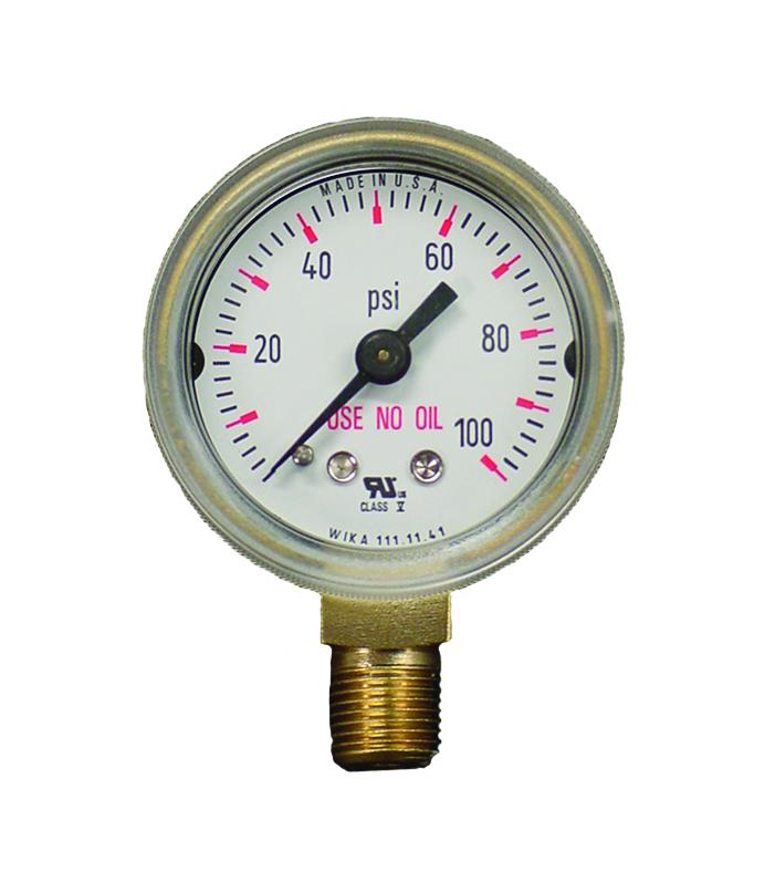 315100 Weldmark Gauge 1-1/2in 100 PSI Steel