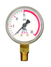 Load image into Gallery viewer, 320030 Weldmark Gauge 2in 30LB Red Zone