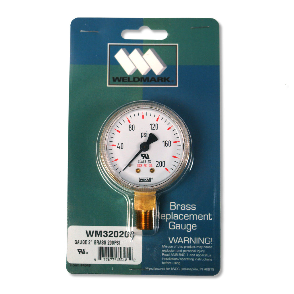 320200 Weldmark Gauge 2in 200 LB Brass