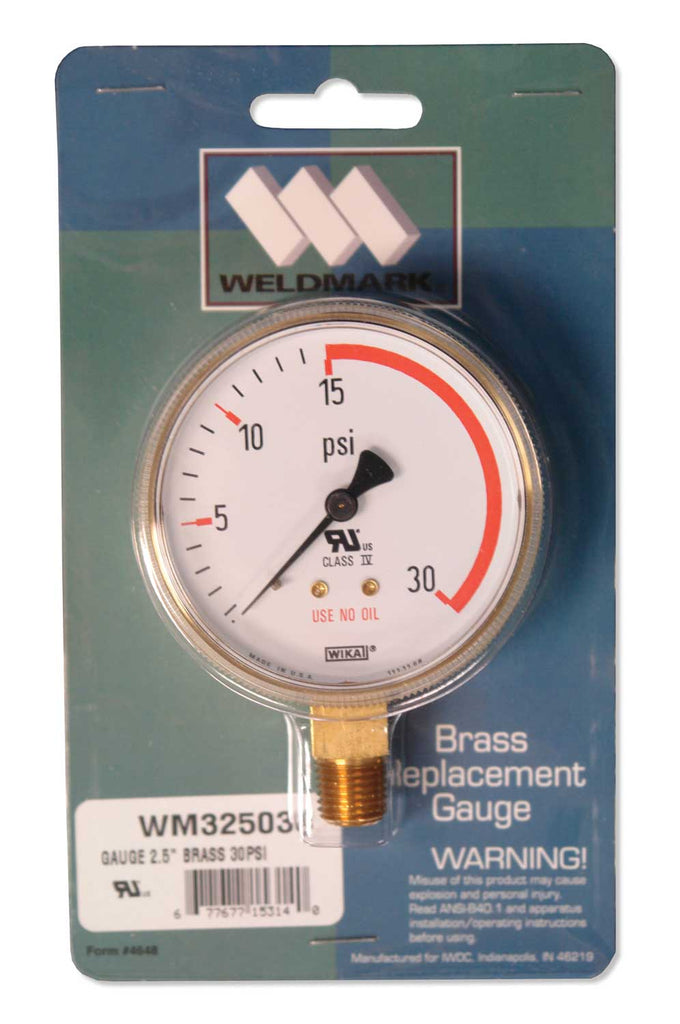 325030 Weldmark Gauge 2-1/2in x 30 LB Red Zone