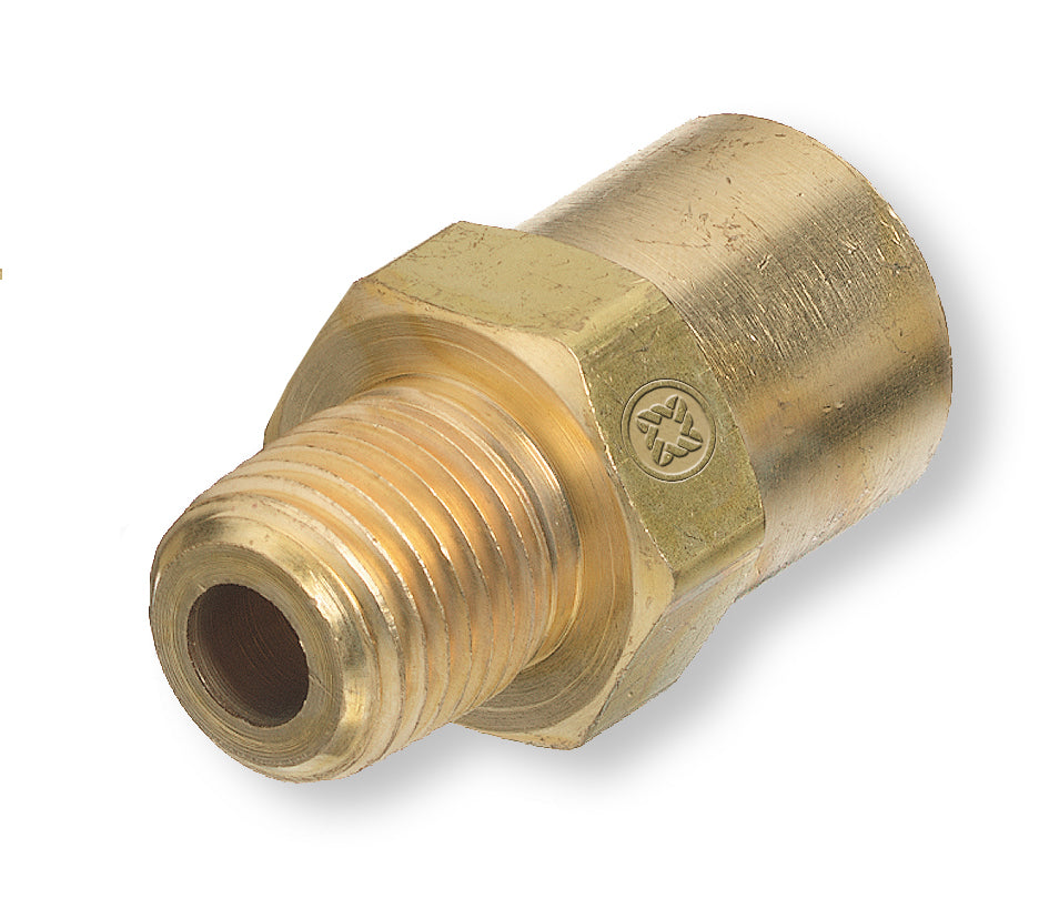 "AW-15A Western Fitting Inert Gas RH Female B-Size 1/4"" Male NPT Adaptor"