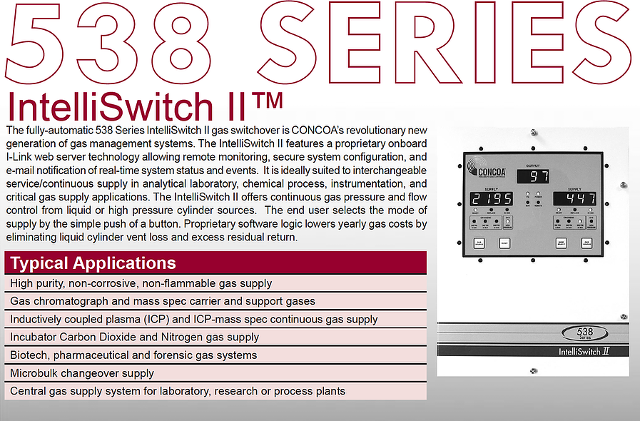 538 Series Concoa Intelliswitch