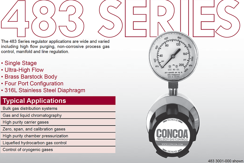 483 Series Concoa Regulator