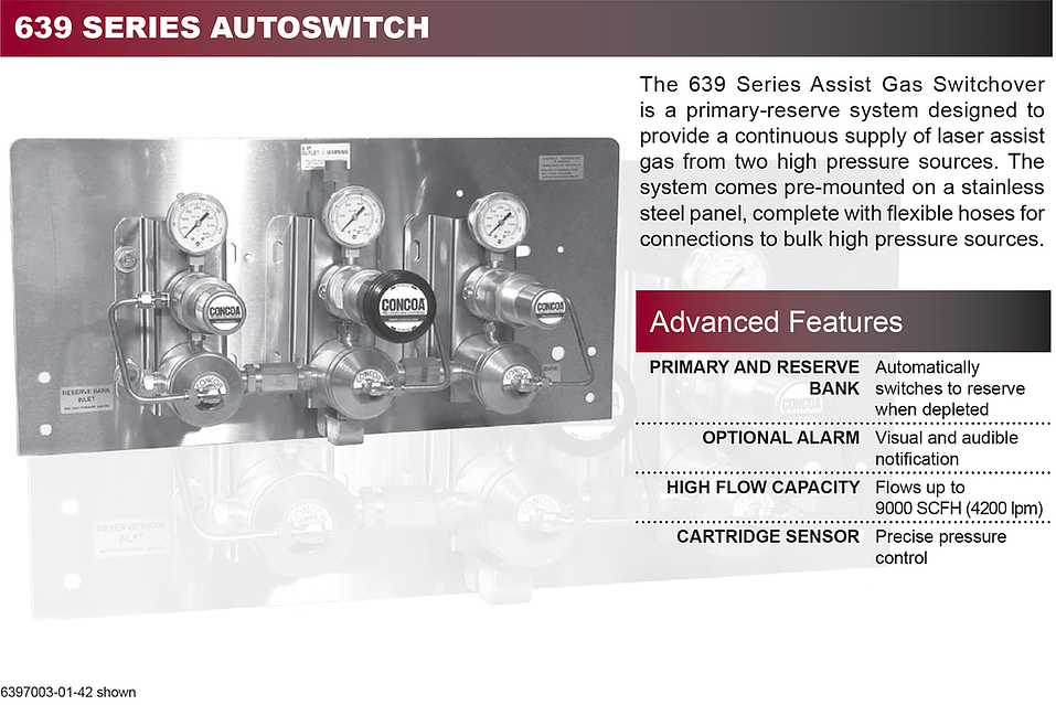 639 Series Concoa Assist Gas Switchover
