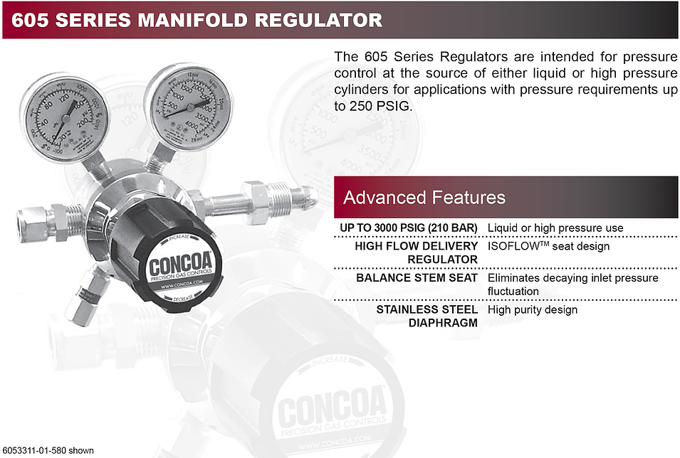 605 Series Concoa Regulator