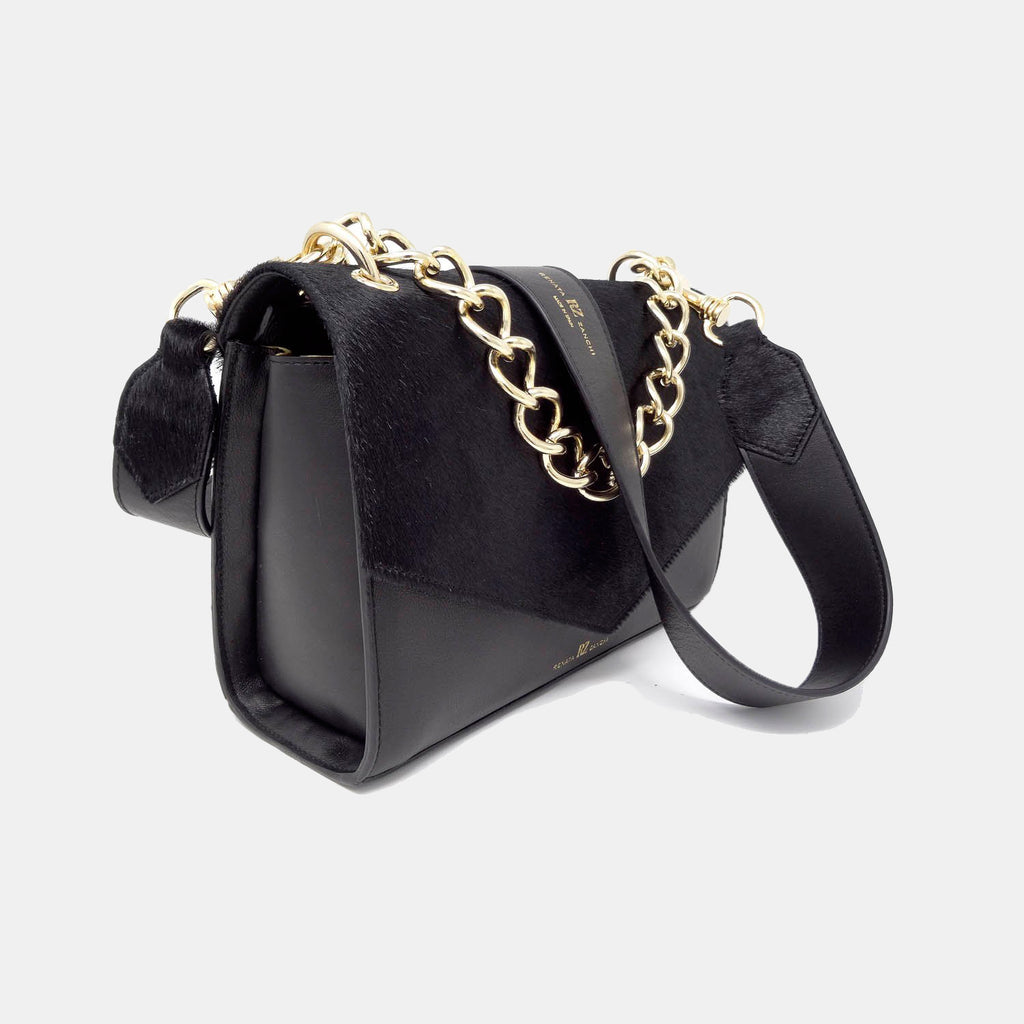 Black rock pony hair bag