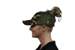 B.B. Ponytail Cap (Pattern) 2 Color Options