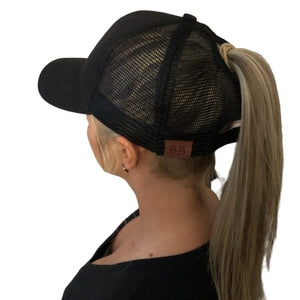 B.B. Ponytail Cap (Solid Color) 5 Color Options - Your Basic Bits