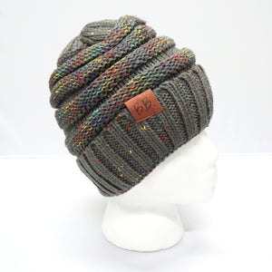 Charcoal Confetti BB Beanie & Scarf Bundle