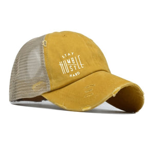 Stay Humble, Hustle Hard Ponytail Cap - Your Basic Bits