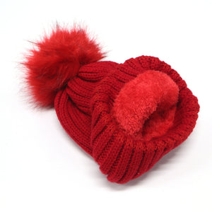 Red VIP BB Pom Hat & Scarf Bundle