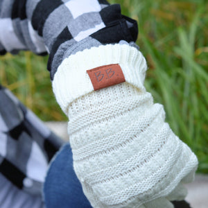 White BB Knitted Gloves - Your Basic Bits
