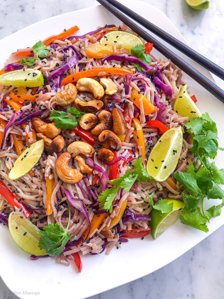 Spicy Thai Rainbow Noodles