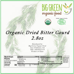 Organic Dried Bitter Gourd Slice (Balsam Pear), 2.8oz