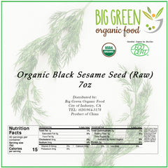 Organic Raw Black Sesame, 7oz