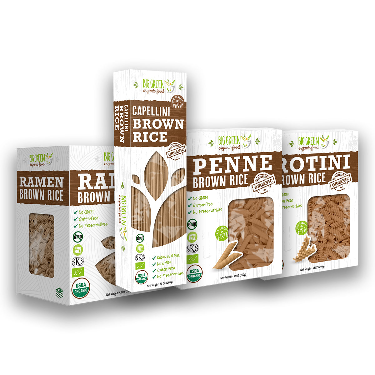 Organic Brown Rice Pasta Bundle