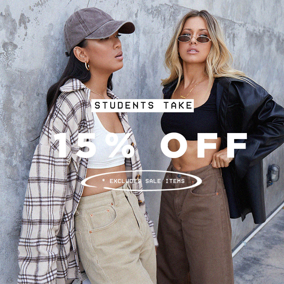 15% OFF STUDENT DISCOUNT