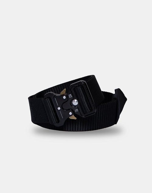 Nylon Belt in Black by Motel
