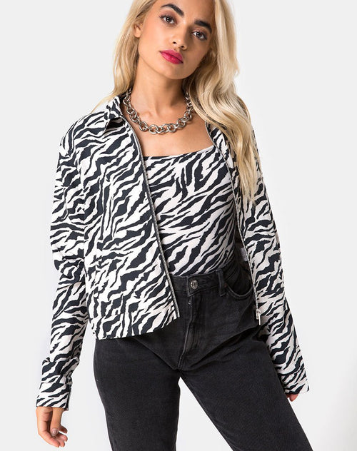 Agatha Jacket in 90's Zebra by Motel