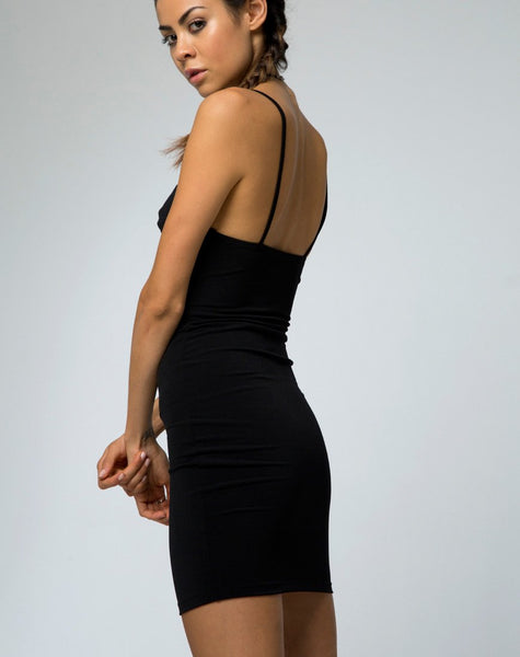 Alvina Bodycon Dress in Black by Motel