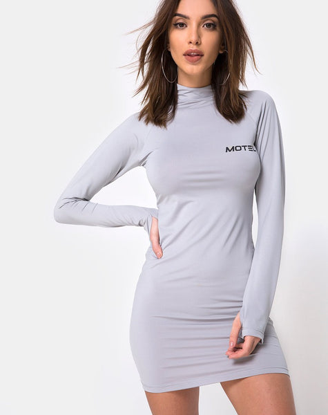 Anegan Bodycon Dress in Grey Motel by Motel