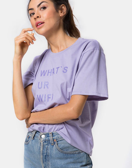 Oversize Basic Tee in I unfollowed You by Motel