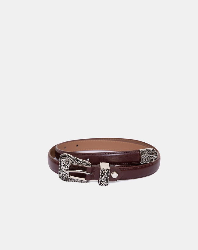 Brown Vintage Western Belt by Motel