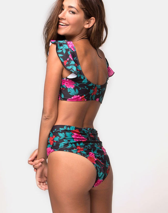 Bev Bikini Bottom in Floral Fling By Motel