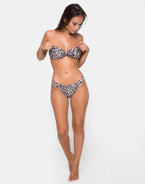 Cleo Bikini Bottom in Original Cheetah by Motel