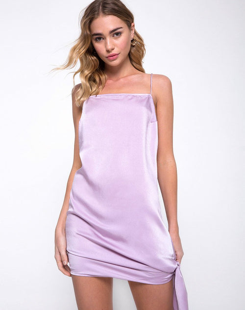Colaro Slip Dress in Lilac by Motel