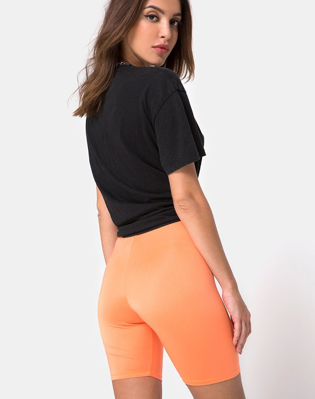Cycle Short in Fluro Orange by Motel