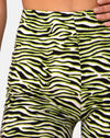 Cycle Short in Zebra Fluro Green