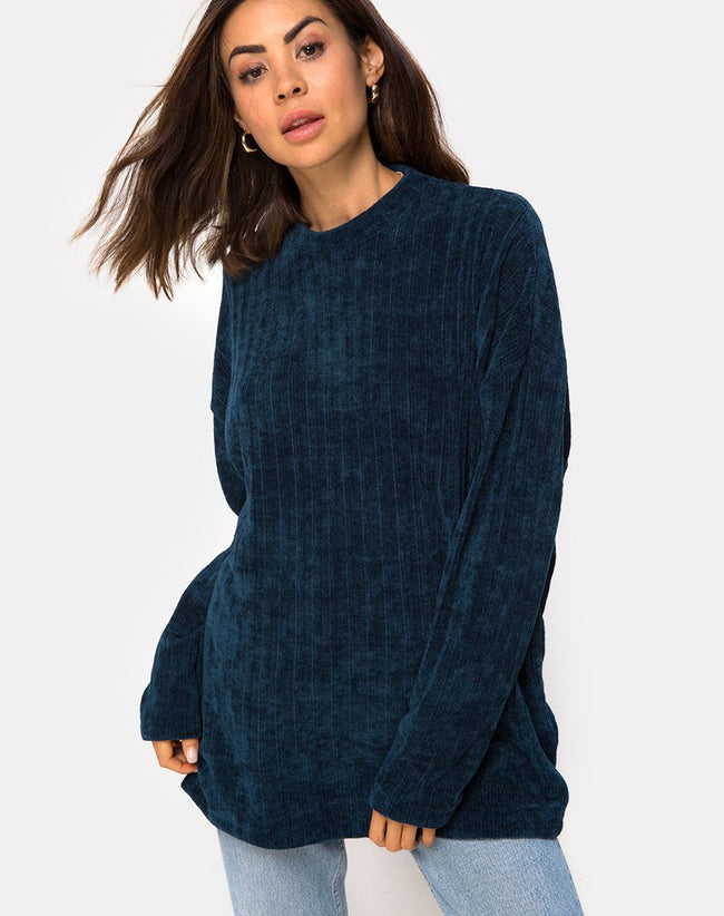 Dad Jumper in Chenille Blue by Motel