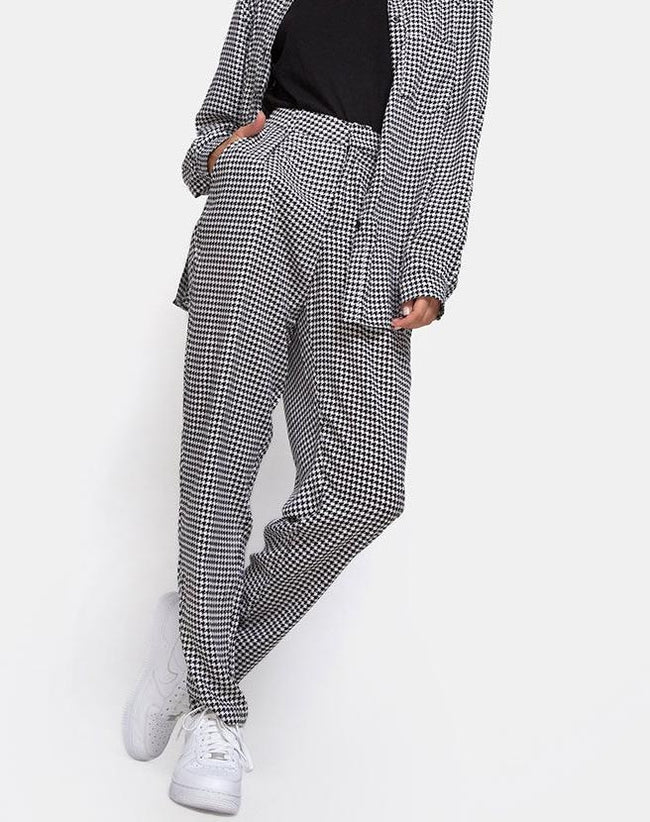 Dastan Trousers in Small Dogtooth by Motel