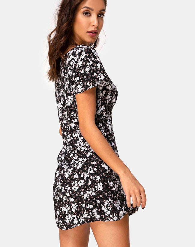 Elara Dress in Dark Wild Flower by Motel