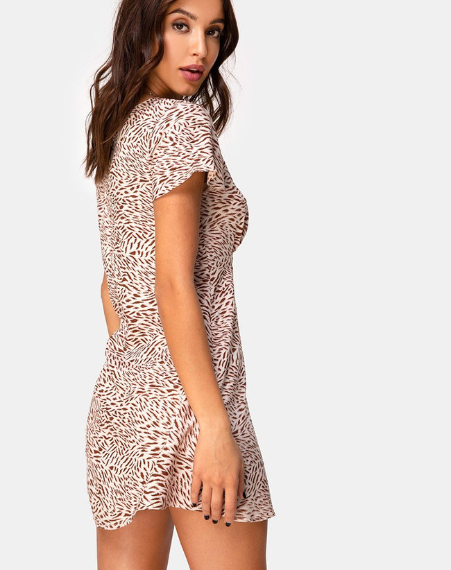 Elara Dress in Safari Taupe by Motel