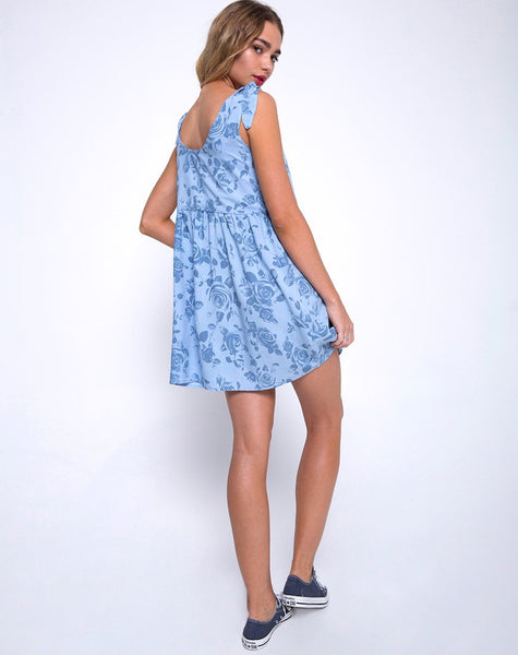 Estilo Dress in Sky Rose by Motel