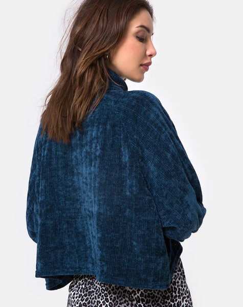Evie Cropped Sweatshirt in Chenille Blue by Motel