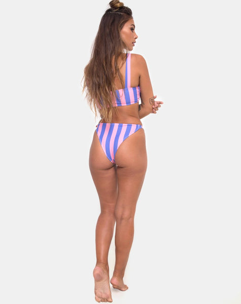 Febe Bikini Top in Fairground Stripe by Motel