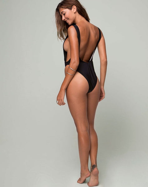 Goddess Swimsuit in Heart Breaker Black by Motel