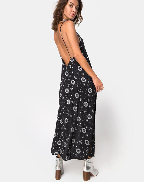 Hime Maxi Dress in Small Celestial Black by Motel X Princess Polly