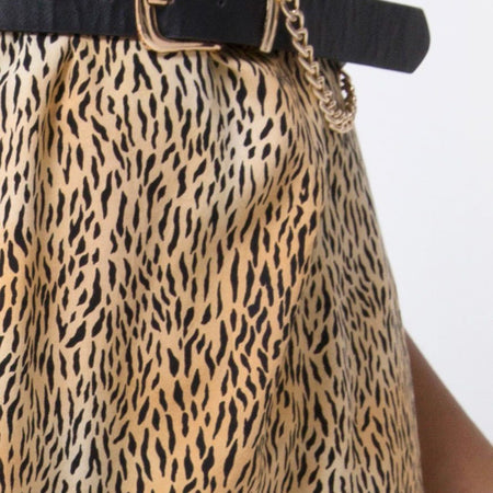 Hime Maxi Dress in Mini Tiger Brown By Motel