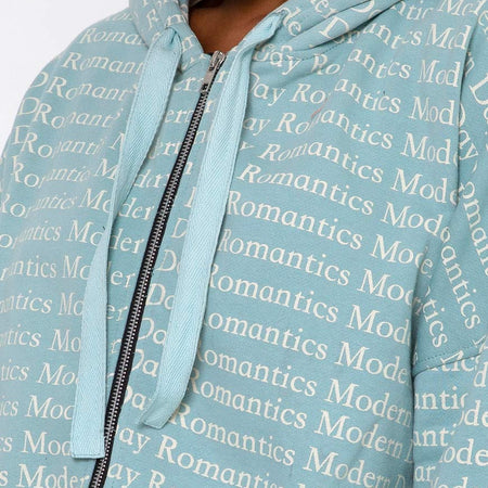 Hollack Hoody in Modern Day Romantics Seafoam by Motel