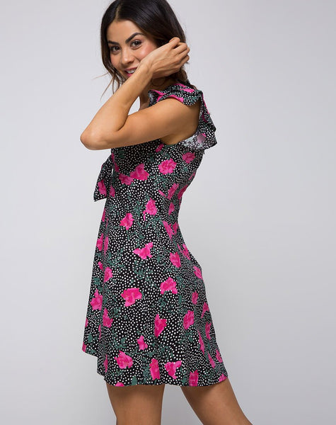 Ihza Tea Dress in Paradise Polka by Motel