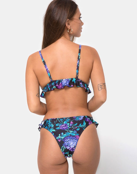 Ilona Bikini Top in Violet Dreams by Motel