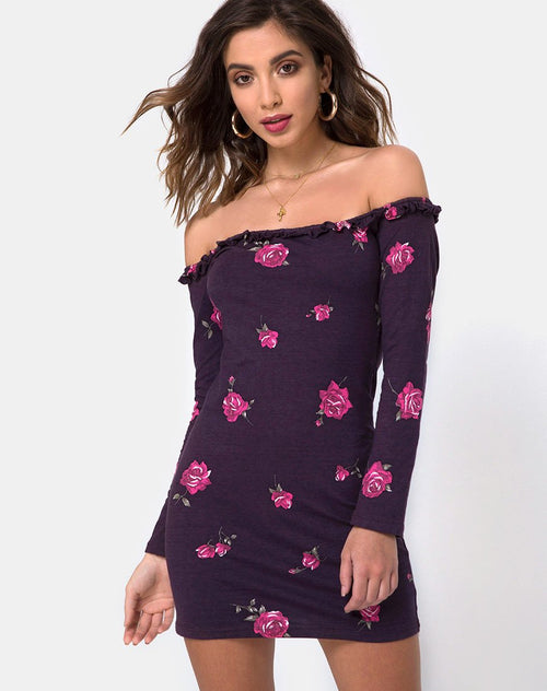 Janelis Bodycon Dress in Evening Rose By Motel