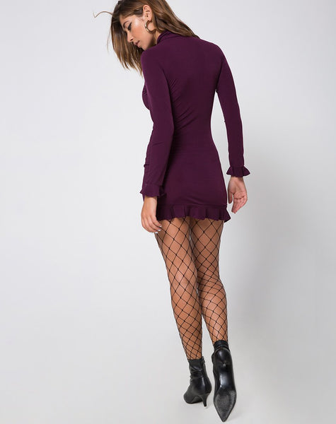 Lafitte Bodycon Dress in Plum by Motel