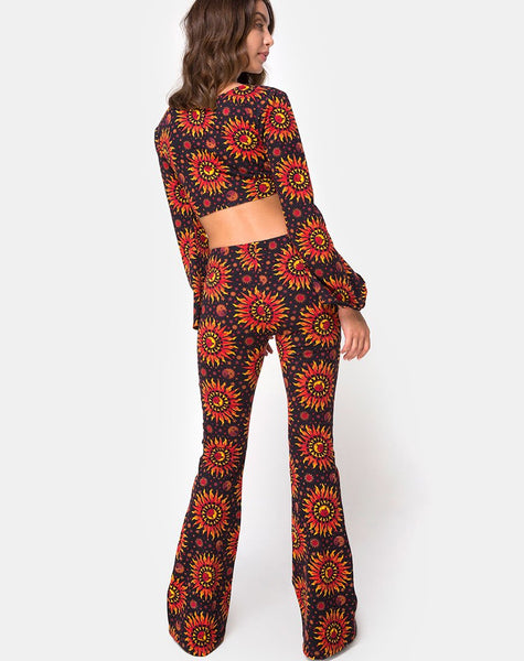 Jeevan Flare Trouser in Hot Sun by Motel X Princess Polly